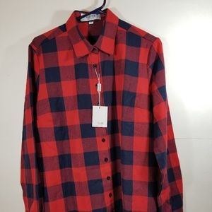Long Sleeve Brushed Flannel Shirts for Women